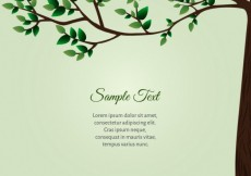 Free vector Green card with tree #21342