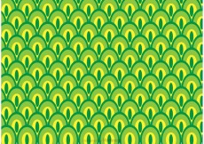 Free vector Green Peacock Tail Pattern Vector #22996