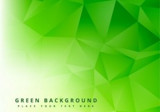 Free vector Green polygonal abstract background #25765