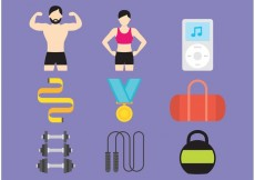 Free vector Gym And Health Vector Icons #24085