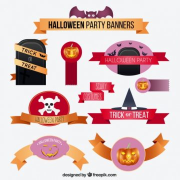 Free vector Halloween banner collection #26001