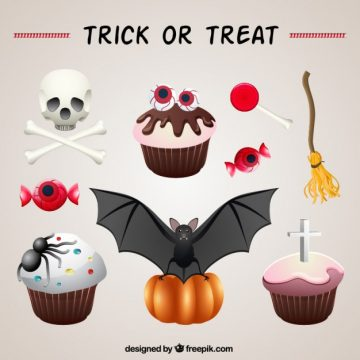 Free vector halloween ornamental muffins #25979