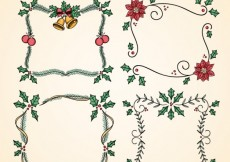 Free vector hand drawn christmas frames #27061