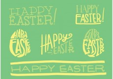 Free vector Hand Drawn Easter Vector Typography #22512