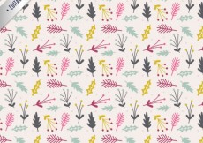 Free vector Hand drawn floral christmas pattern #27511