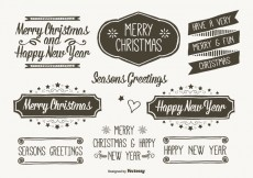 Free vector Hand Drawn Style Christmas Labels #24499