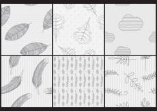 Free vector Hand Made Vector Patterns #26344