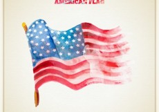Free vector Hand painted american flag #24830