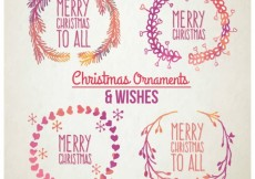 Free vector hand painted christmas garlands #27659