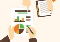 Free vector Hands holding a business graph #22254