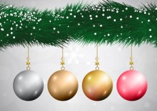 Free vector Hanging realistic baubles #20432
