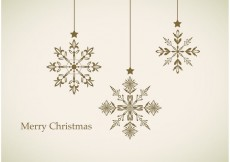 Free vector Hanging Snowflake Vector Background #27955