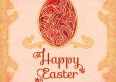 Free vector Happy easter card in art deco style #21098