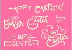Free vector Happy Easter Vector Graphic Set #22486