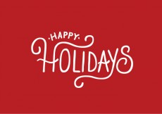 Free vector Happy Holidays Lettering Vector #25062