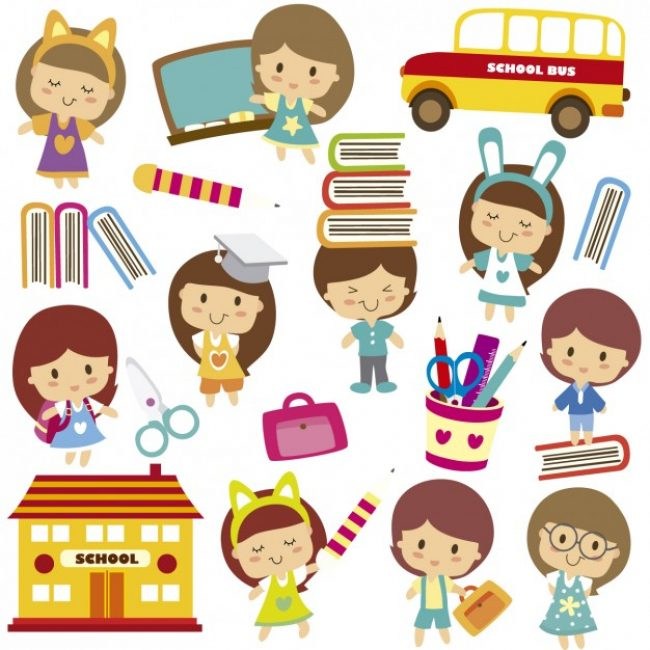 Free vector Happy kids on school #26183
