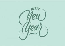 Free vector Happy New Year Vector Hand Lettering #25077