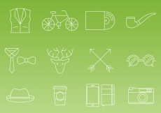 Free vector Hipster Thin Line Icon Vectors #26494