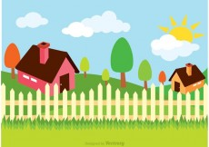 Free vector House Illustration Vector #22091