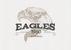 Free vector Illustrated eagle badge #21371