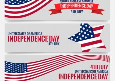 Free vector independence day banners #24932