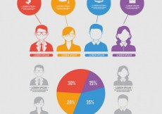 Free vector Infographic design with young people #22152