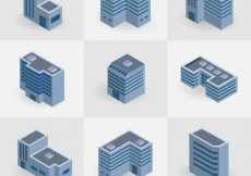 Free vector Isometric buildings collection #21812