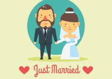 Free vector Just Married Card #26118