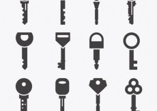 Free vector Key icons collection #20604