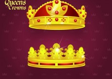 Free vector King and queen crowns #20356