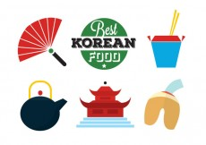 Free vector Korean Food Icons #20513