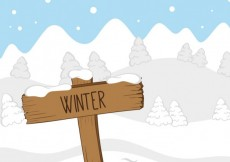 Free vector Landscape with winter sign #25811