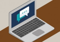 Free vector Laptop chat #20414