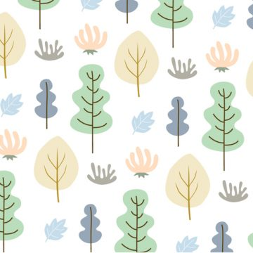 Free vector Leaves and trees pattern background vector #26566