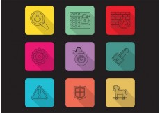 Free vector Linear Computer Security Vector Icons #27570