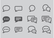 Free vector Live Chat Vector Icons #27372