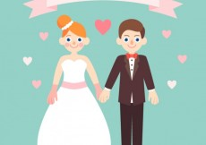 Free vector Lovely bride and groom #27551