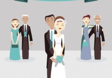Free vector Lovely just married couple #27233
