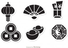 Free vector Lunar New Year Black Icons vector #27779