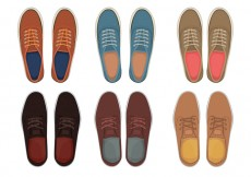 Free vector Mens shoes top view #25167
