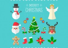Free vector Merry christmas elements #26741