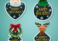 Free vector Merry christmas labels #25180