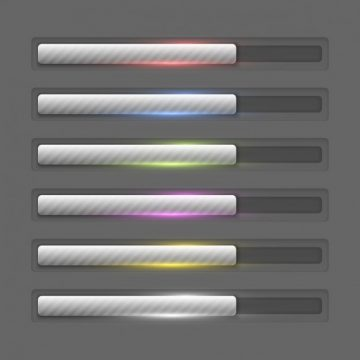 Free vector Metallic progress bars collection #25929