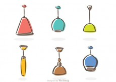 Free vector Modern Chandelier Icons Vector #21871