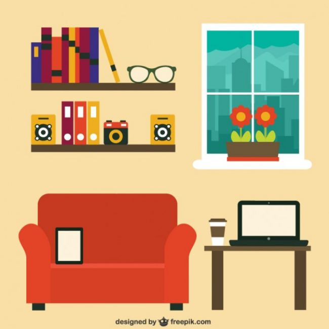 Free vector Modern home office #20920