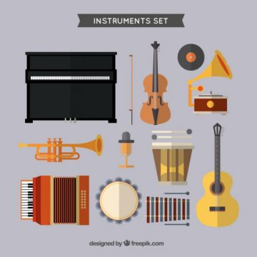 Free vector Music instruments set #20315