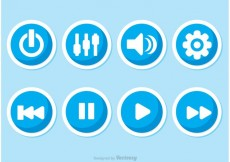 Free vector Music Player Button Vectors #21777