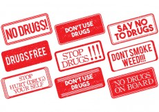 Free vector No Drugs Stamp Vector #24565