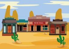 Free vector Old western towns vector #26678
