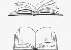 Free vector Opened books in hand drawn style #21551